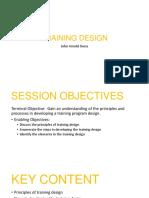 training design sample