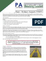 14AGEBL01 - Runway Stop Bars - Sydney Airport (YSSY)