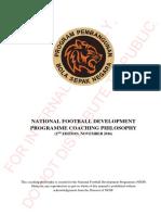 (C) 2016.11 NFDP Coaching Philosophy 2nd Edition (November 2016)