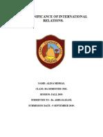 Assignment of International Relations