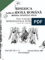 Biserica Ortodoxa Romana 1947 Nr.1-12