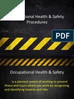 Occupational Health & Safety Procedures Hazard