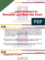 Remedial Law Mock Bar Exam June 2019