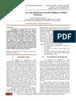A Study on Awareness and Satisfaction towards Employee Welfare Measures