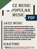 Jazz Music & Popular Music