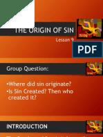 Lesson 9 - The Origin of Sin