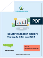 The Grs Solution Weekly Equity Report 09 September 2019