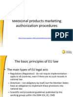Medicinal Products Marketing Authorization Procedures