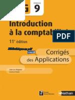 Nathan - DCG UE 9 - Introduction à la comptabilité - Manuel & Applications - 11e édition 2017 - Corrigés.pdf