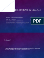 Phrase and clause