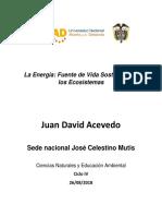 Juan David Acevedo Energia de Los Ecosistemas 28-08-2018