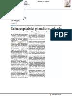 Urbino capitale del giornalismo culturale - Il Resto del Carlino del 6 settembre 2019