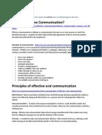 Principles for Effective Communication