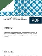 Didática- Formação d Eprofessores