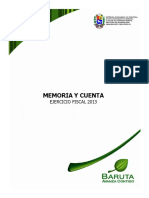 Memoria y Cuenta Municipio Baruta Año 2013