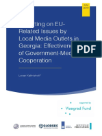 Reporting on EU-related issues by local media outlets in Georgia