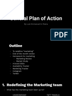 General Plan of Action