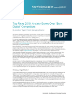 Top Risks 2019 Anxiety Grows Over Born Digital Competitors