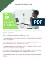 Vagas de emprego do dia 29 de Agosto de 2019 (110 VAGAS) - MMO.pdf