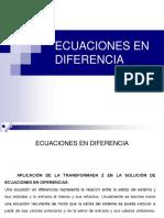 Clase de Ecuaciones en Diferencia