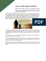 Poveste Sau Banc Cu Tâlc Despre Politică