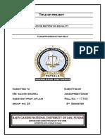 Jurisprudence Project 4th Semester