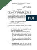 Classification Notification12122013