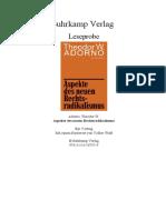Adorno - Neuer Rechtsradikalismus