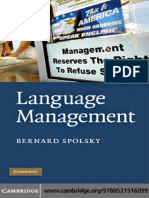 Bernard Spolsky - Language Management (2009)