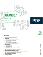 GLOBALGAP Product List En
