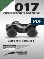 2017 Alterra 700 XT