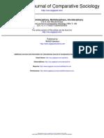 Area Studies- Unidisciplinary, Multidisciplinary, Interdisciplinary