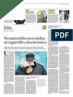 Neumonitis Asociadias Al Cigarrillo Electrónico