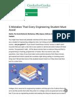 5 Mistakes That Every Engineering Student Must Avoid - GeeksforGeeks192518