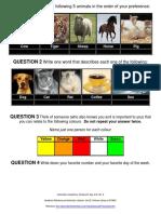 Personality Test Dalia Lama. Questions,PDF