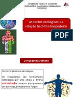 Aspectos Ecológicos Da Relação Bactéria Hospedeiro e Biofilmes CB