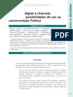 Assinatura Digital e Chancela eletronica
