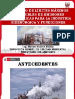 Proyecto de LMP de emisiones atmosféricas para siderúrgica y fundiciones