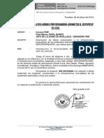 OFICIO 076 sismo