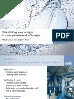 Drinking Water Analysis - Waterworks Öhringen