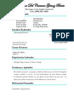 Curriculum Luisanna Gomez