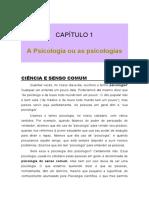 Texto 1 - Psicologia Ciencia e Senso Comum;