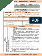 Septiembre - 5to Grado Educación Física (2019-2020)