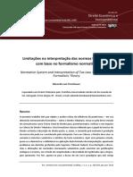 Limitações Na Interpretação Das Normas Tributárias Com Base No Formalismo Normativo