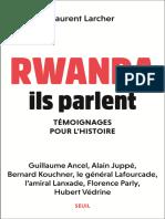Rwanda. Ils parlent.