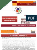 Productos Diplomado para Maestros de Primara 2° y 5° grados. Modulo I Fundamentos de la Reforma