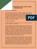 5.- Los Procesos Incidentales en El Ncpc