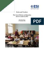 ESI - Kosovo - Books and Teachers - 22 Dec 2014