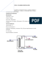 Práctica 2 Columna de Destilacion