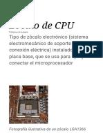Zocalo de CPU